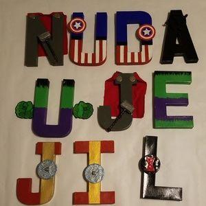 Handmade paper mache letters
